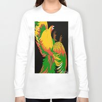 rooster Long Sleeve T-shirts featuring Rooster by Saundra Myles