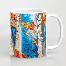BIRCHES IN RED Coffee Mug