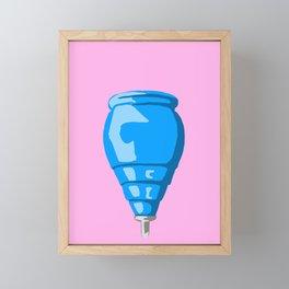 Blue Spinning top Framed Mini Art Print