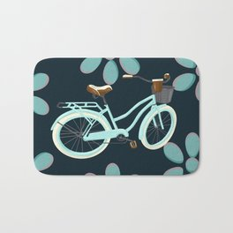 My Bike Floral Bath Mat