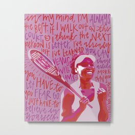 Venus Williams. Metal Print