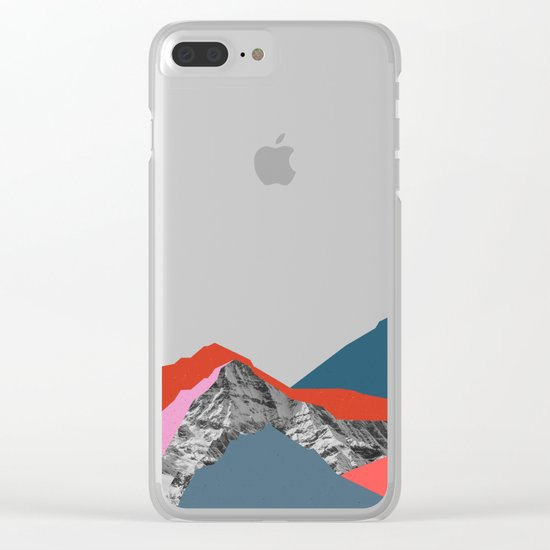 Graphic Mountains Clear iPhone Case