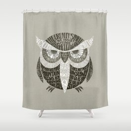 Wise Old Owl Says Shower Curtain