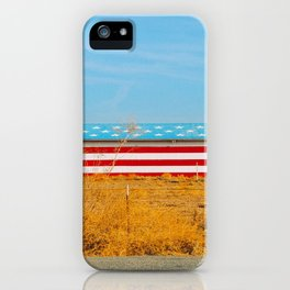 America flag house iPhone Case