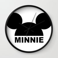minnie mouse Wall Clocks featuring MINNIE by ilola