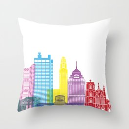 Columbus skyline pop Throw Pillow