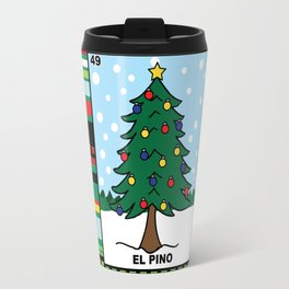 Christmas Loteria El Pino Travel Mug