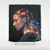 alicexz Shower Curtains featuring Amethyst by Alice X. Zhang