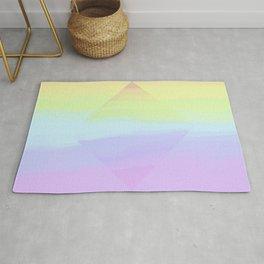 Rainbow. Soft rainbow pearl prism. Rug