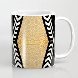 Gold and Black Coffee Mug