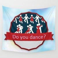 dancing Wall Tapestries featuring Dancing by Pavlo Tereshin