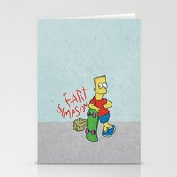 simpson Stationery Cards featuring FART SIMPSON by Josh LaFayette