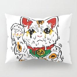 Melting Maneki Neko Lucky Cat Pillow Sham