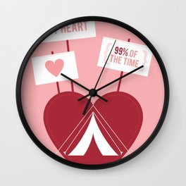 Occupy My Heart Wall Clock