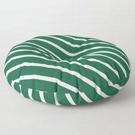 Teal The World (Green) Diagonal Stripes Floor Pillow