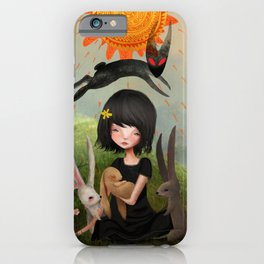 My Heart has Joined the Thousand, for my friend stopped running today. iPhone Case