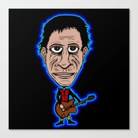 lou reed Canvas Prints featuring Lou Reed Rock God by Adam Metzner