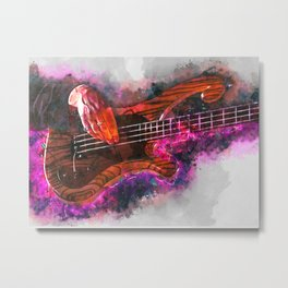 Les Claypool's bass guitar Metal Print