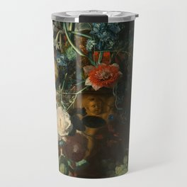 Jan van Huysum - Still Life with Flowers and Fruit Travel Mug