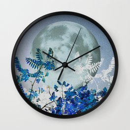 Super Moon v2 - Blue #buyart Wall Clock