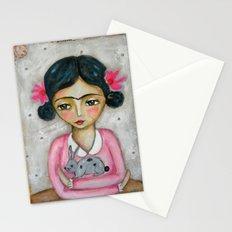 Frida Kahlo and bunny Stationery Cards