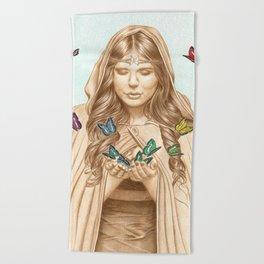 The Butterfly Girl Beach Towel