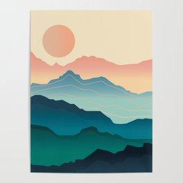 Wanderlust Gradient Mountain Poster