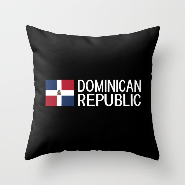 Dominican Republic: Dominican Flag & Dominican Rep Throw Pillow