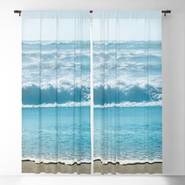 Blue Sea Backdrop Blackout Curtain