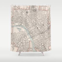 Vintage Map of Nashville Tennessee (1901) Shower Curtain