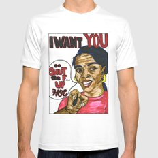 I WANT YOU: a call to the people White MEDIUM Mens Fitted Tee