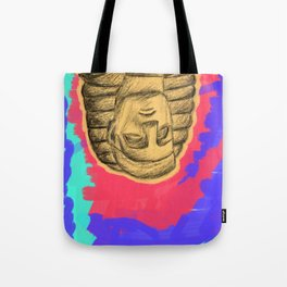 psychedelic three Tote Bag