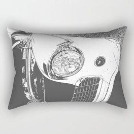 White Vintage Auto Front End Rectangular Pillow