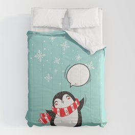 Cute Christmas Penguin Comforters