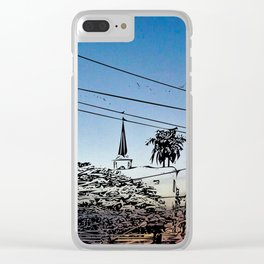 over smal trown the sunset Clear iPhone Case