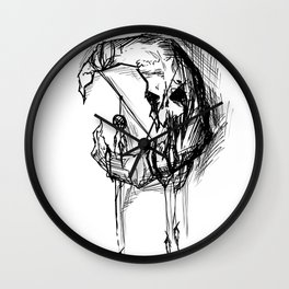 Dark Moon - poster Wall Clock