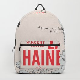 La Haine (Hate) Vincent Cassel, Mathieu Kassovitz, alternative movie poster, banlieue french film Backpack