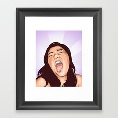 Shout Framed Art Print