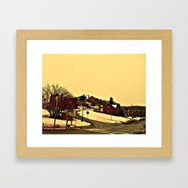 Peachy Skies Framed Art Print