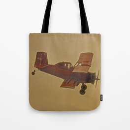 Crop Duster Flying In A Storm Tote Bag