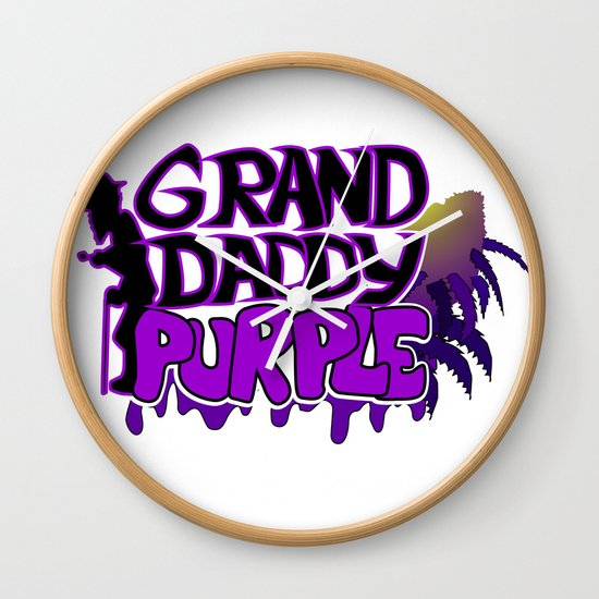 Grand Daddy Purple Wall Clock