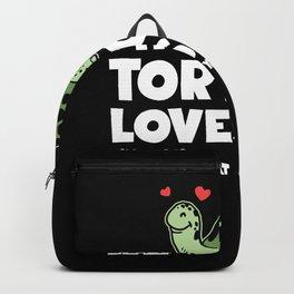 Tortoise Loves Me Terrapin Ocean Reptile Backpack