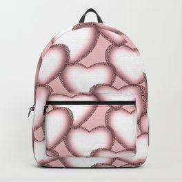 Hearts with lace trim. Backpack