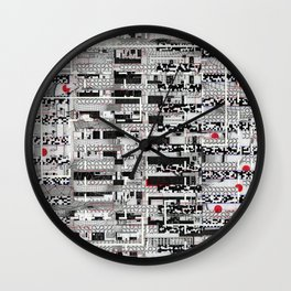 Opportunistic Species (P/D3 Glitch Collage Studies) Wall Clock
