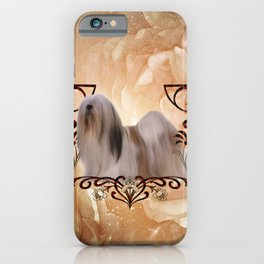 Beautiful lhasa apso , cute dog iPhone Case