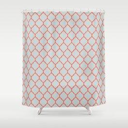 Orange Orient Shower Curtain