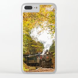 Nature Landscape Photography - Steam Train with Autumn Foliage Clear iPhone Case