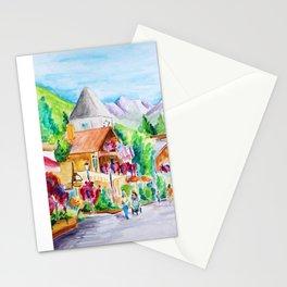 Vail Village Colorado Watercolor Stationery Cards