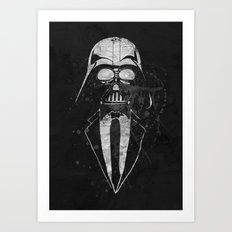 Darth Vader Gentleman Art Print