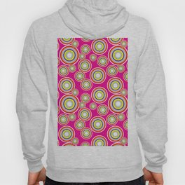 Circles on pink background Hoody